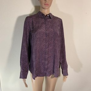 J Crew Silk Button Front Blouse Top 10